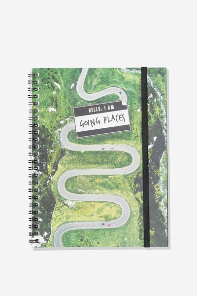 A5 Spinout Notebook - 120 Pages, GOING PLACES