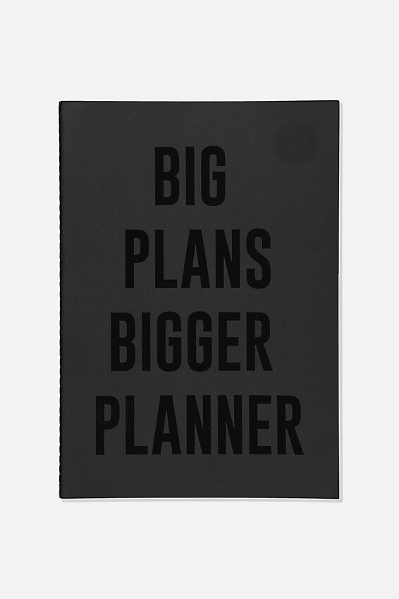 The Big Undated Monthly Diary, BLACK BIG PLANS