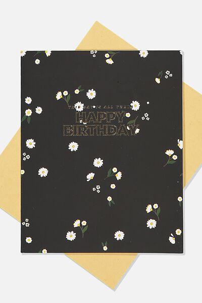 Nice Birthday Card, DITSY FLORAL BIRTHDAY