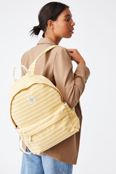 Fundamental Backpack, WASHED MUSTARD 70S STRIPE