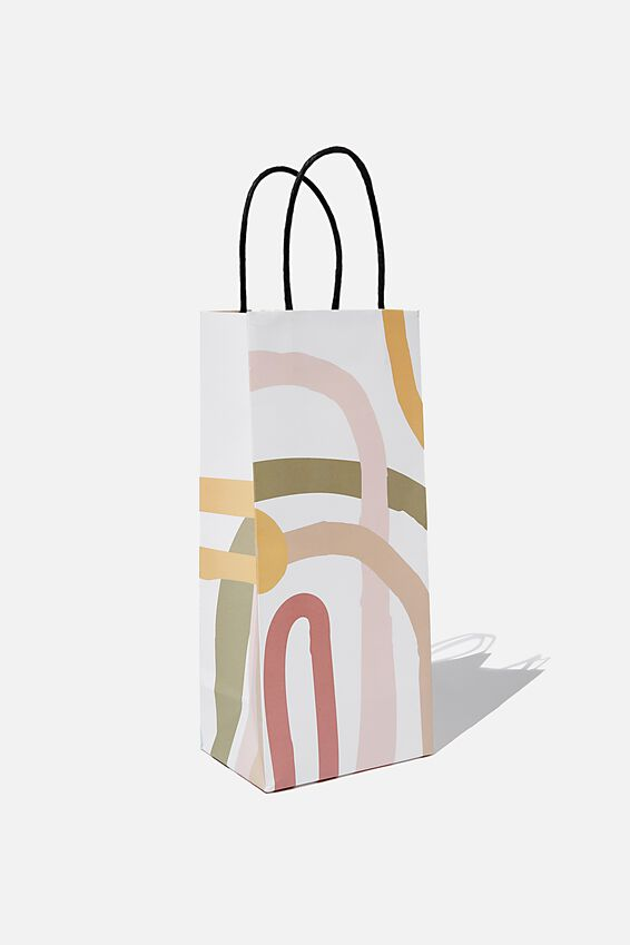 Bottle Gift Bag, MODERN RAINBOW