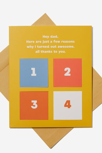 Premium Fathers Day Card 2019, ADVENT