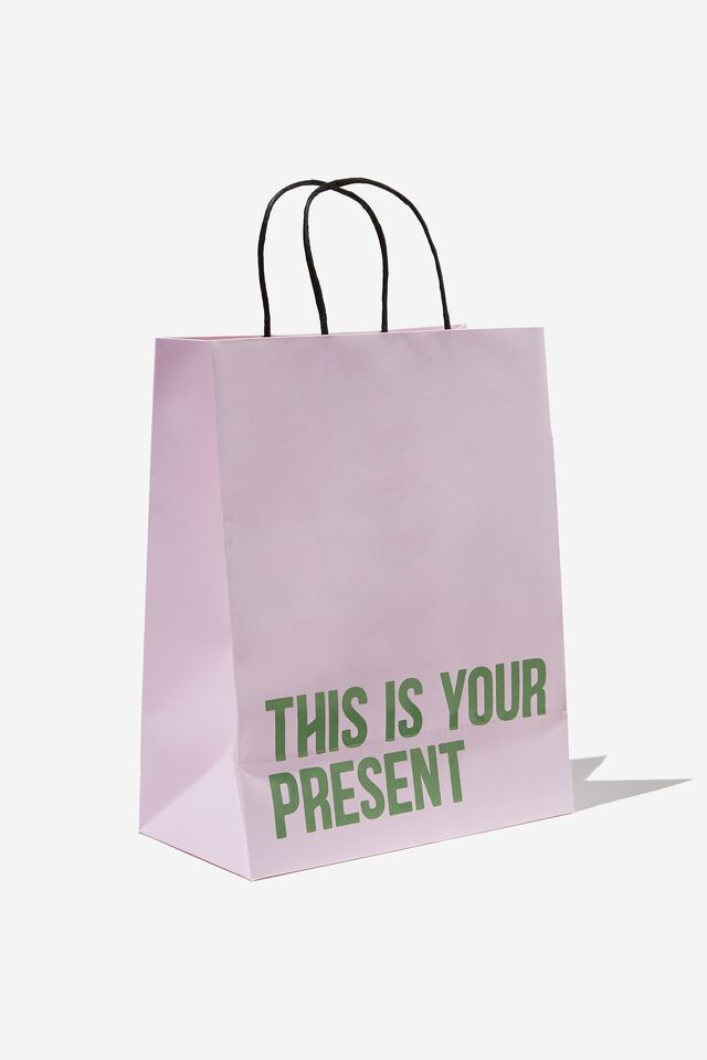 Get Stuffed Gift Bag - Medium, THIS IS YOUR PRESENT PINK SALT GREEN
