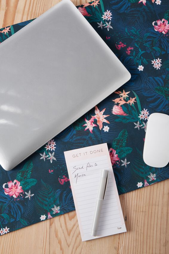 A2 Jumbo Mouse Pad, JUNGLE FLORAL
