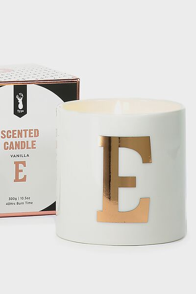 Ceramic Jar Candle, ROSE GOLD E