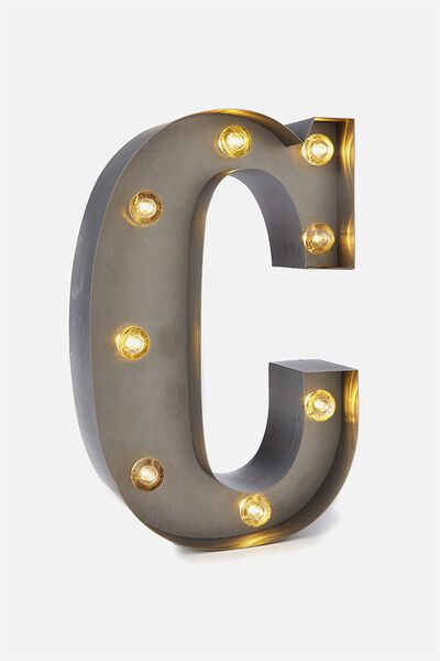 Small Marquee Letter Lights 23cm, SILVER C