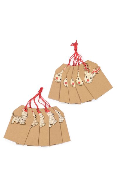 Gift Tags Set 10, DACHSHUND