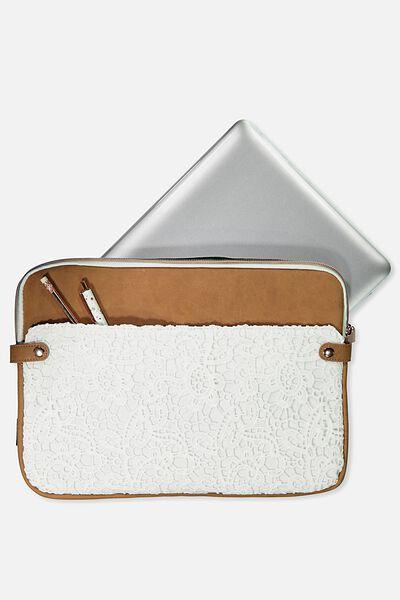 Varsity Laptop Case 13 Inch, WHITE LACE