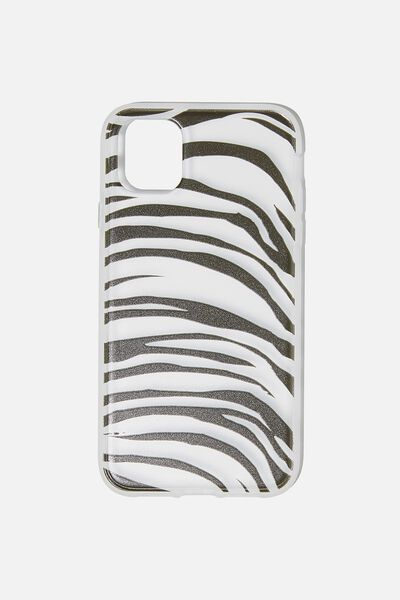 Protective Phone Case iPhone 11, ABSTRACT ZEBRA