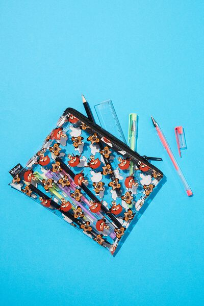 Clear It Pencil Case, LCN DIS TIMON AND PUMBAA