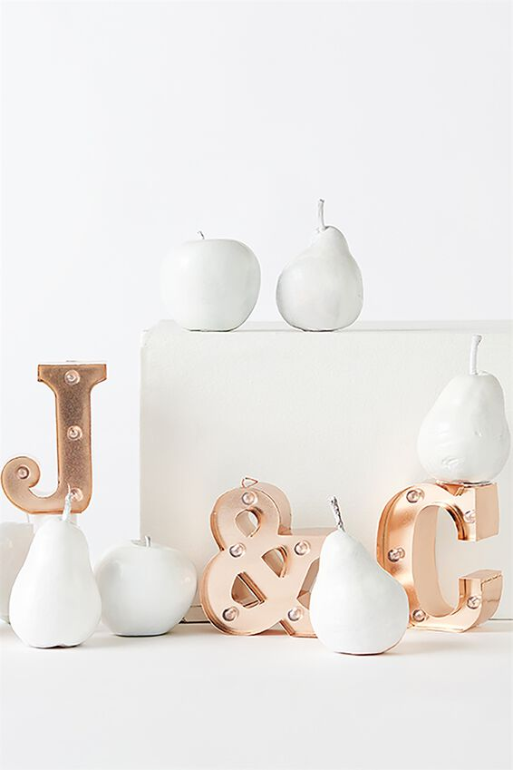 Mini Marquee Letter Lights 10cm, ROSE GOLD W