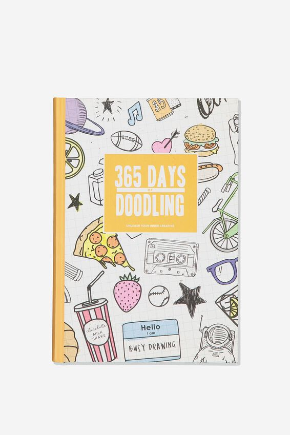 A5 Fashion Activity Journal, 365 DAYS OF DOODLING