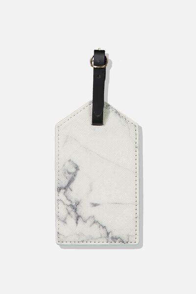 Luggage Tag, WHITE MARBLE