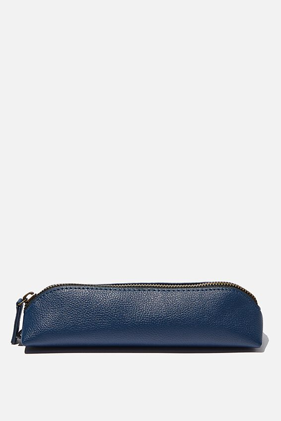 Buffalo Barrel Pencil Case, NAVY
