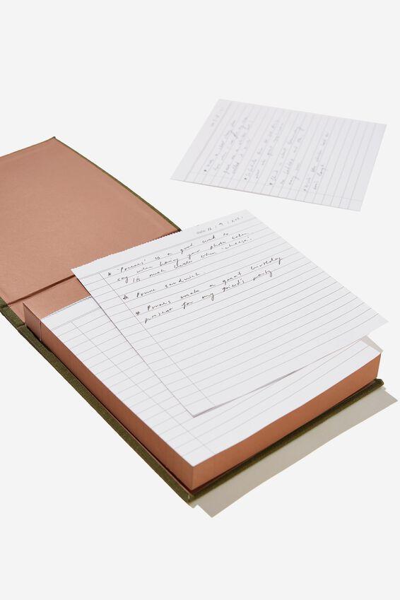 The Ideas Flip Pad, KHAKI GRAND PLANS