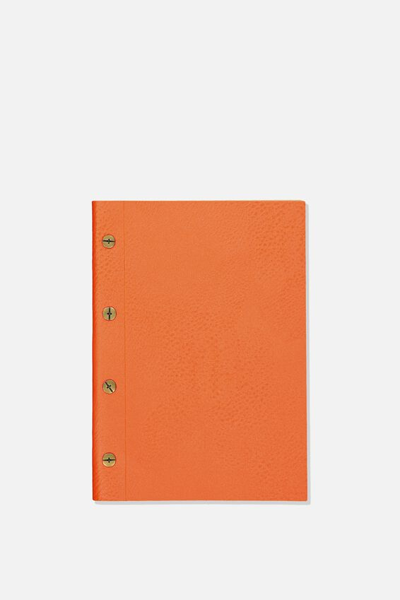 Vintage A5 Notebook, ORANGE