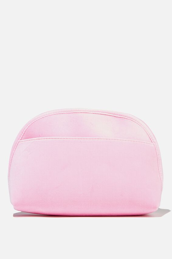 Velvet Essential Pouch, PLASTIC PINK