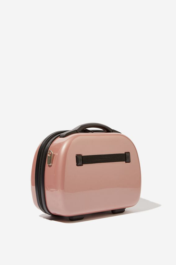 Vanity Cosmetic Case, ROSE GOLD METALLIC
