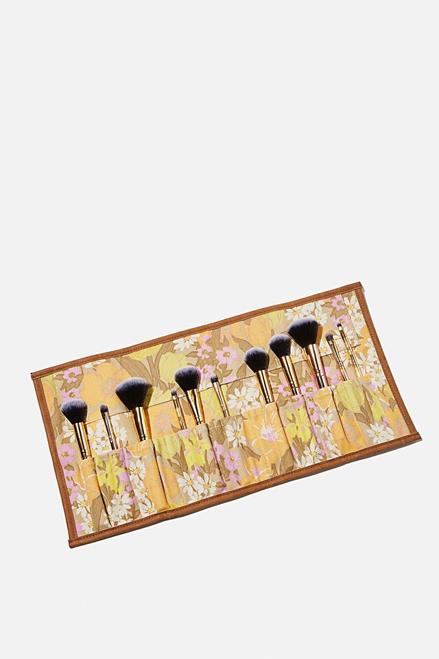 Roll With It Brush Case, SAND GOLDIE FLORAL
