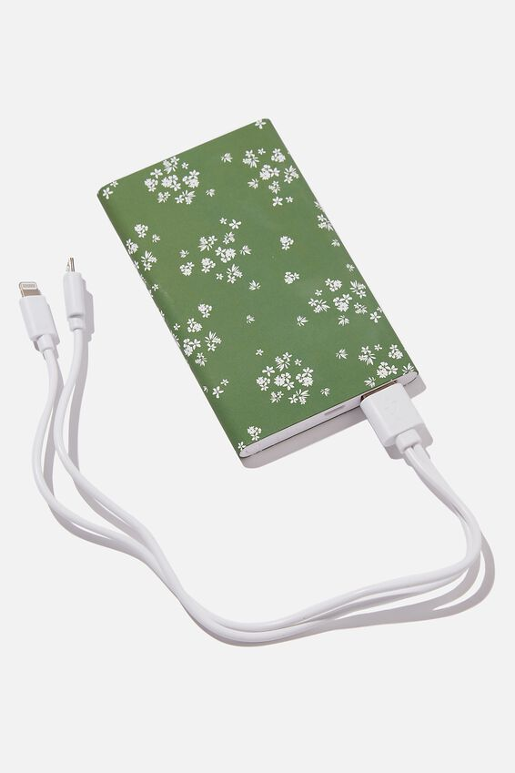 Printed Charge It Charger, BASIL DITSY