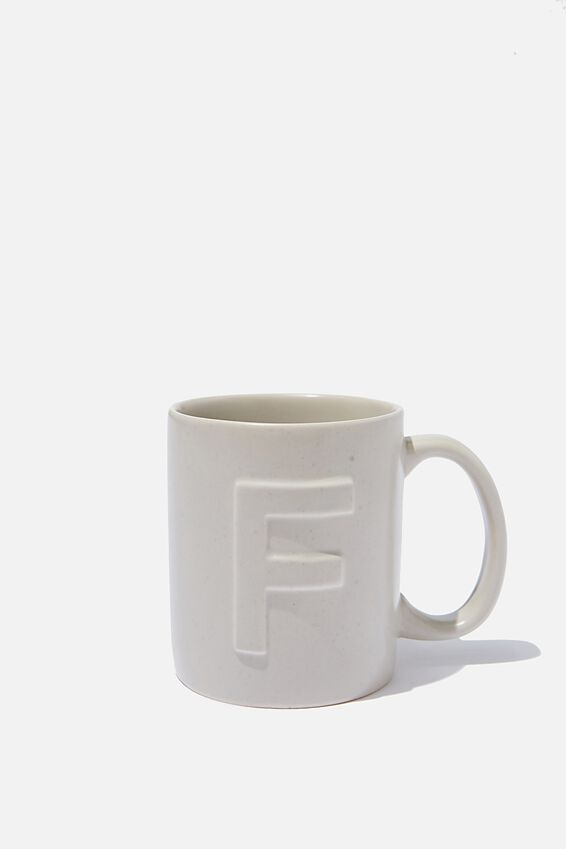 Alphabet Anytime Mug, SPECKLED F