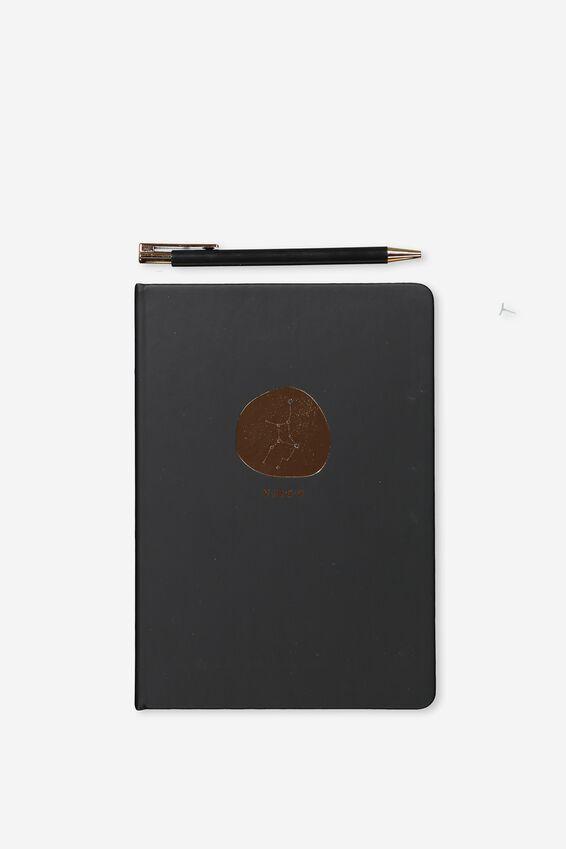 Notebook And Pen Set, ZODIAC VIRGO
