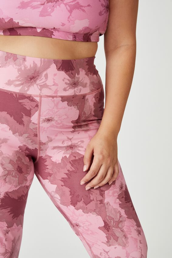 Curve Lifestyle 7/8 Tight, WASHED ROSE CAMO FLORAL