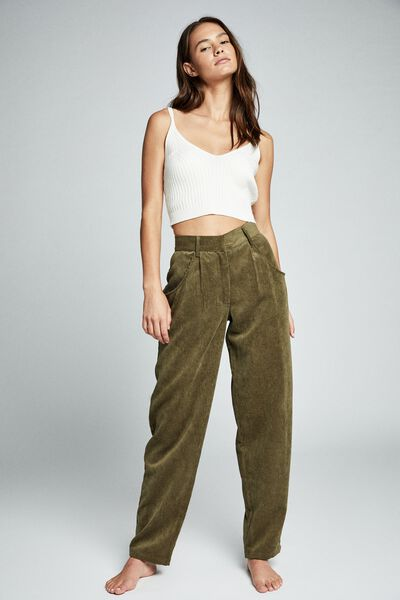 Relaxed Cord Pant, DARK OLIVE