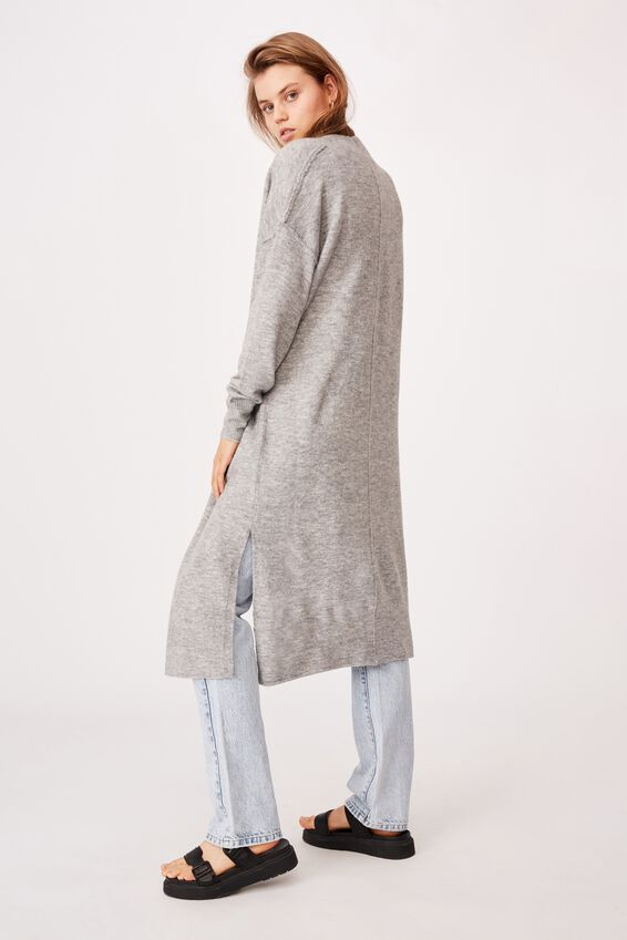 Sustain Me Ll Cardi, LIGHT GREY MARLE