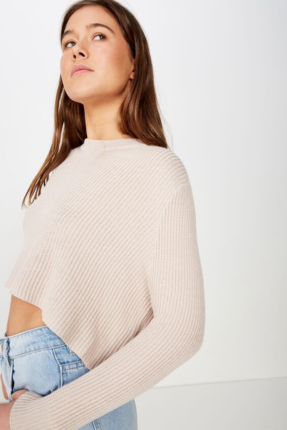 Archy Cropped 2 Pullover, ROSE DUST