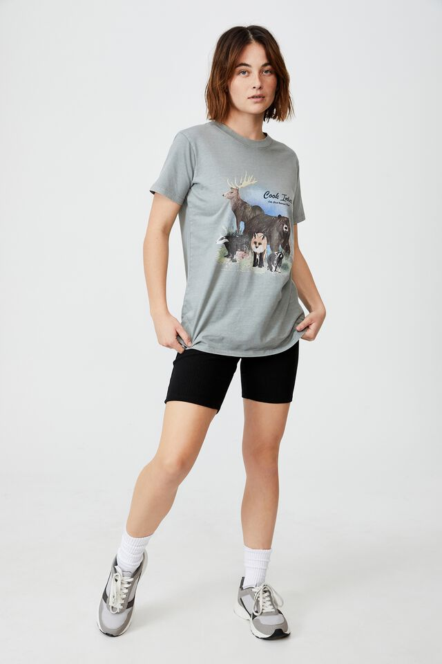 Classic Organic Cotton Graphic T Shirt, COOK INLET/ASH GREY