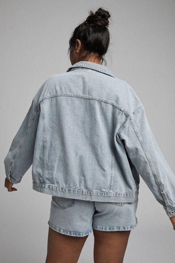 Curve 90S Baggy Denim Jacket, BURLEIGH BLUE