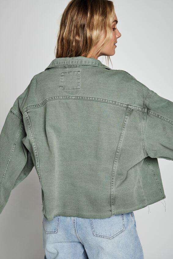 Os Denim Jacket, CHINOIS GREEN