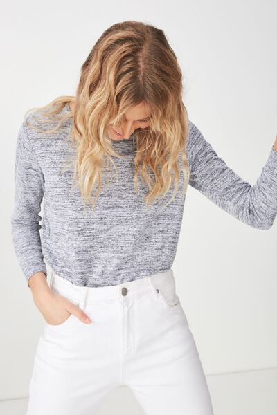 Kathleen Long Sleeve Top, GREYS TWIST