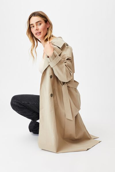 The Oversized Trench, WASHED TAUPE
