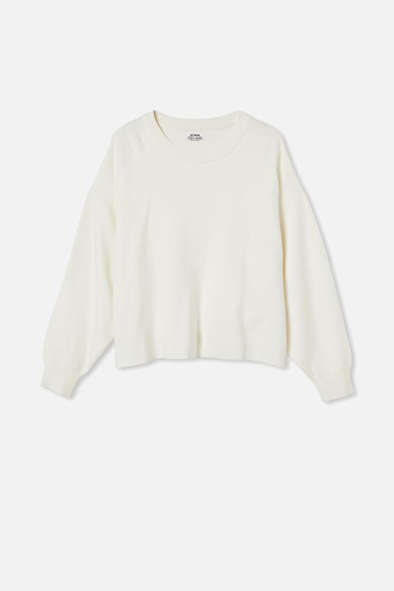 Curve Chloe Oversized Pullover, CLOUD DANCER