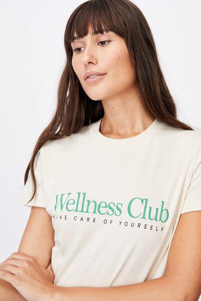 Classic Slogan T Shirt, WELLNESS CLUB/BARLEY