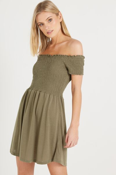 Lindi Off The Shoulder Dress, SOOT
