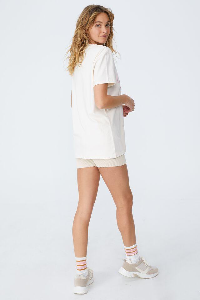 Classic Band T Shirt, LCN EAS BLONDIE LIPS/WHITE SAND