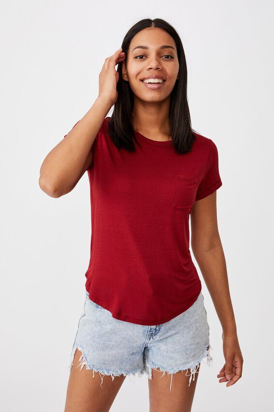 Kathleen Short Sleeve Top, SUNDRIED TOMATO