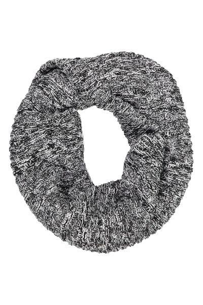 Cedar Knitted Snood, BLACK TWIST