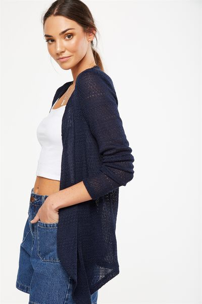 Short Wilma Cardigan, MOONLIGHT