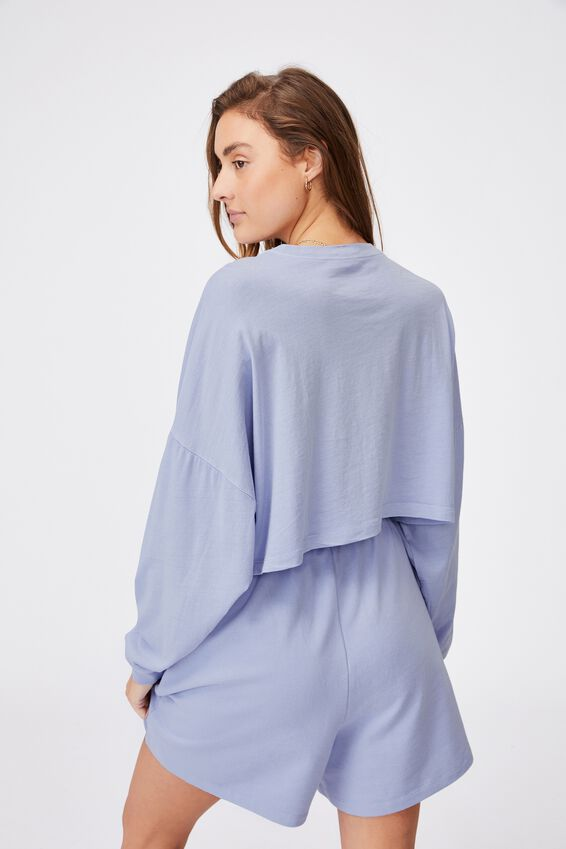 Kyle Batwing Long Sleeve Top, WASHED POWDER BLUE
