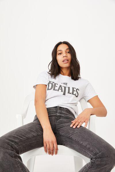Classic Beatles Logo T Shirt, LCN APP BEATLES LOGO/BLACK