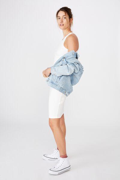 Kirsty Racerback Bodycon Midi Dress, CLOUD DANCER