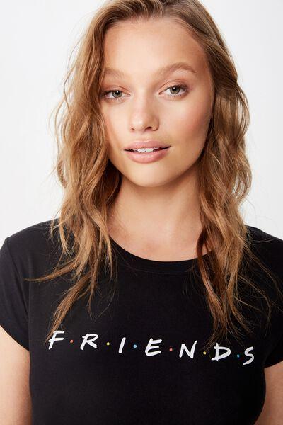 Essential Friends T Shirt, LCN WB FRIENDS LOGO/BLACK