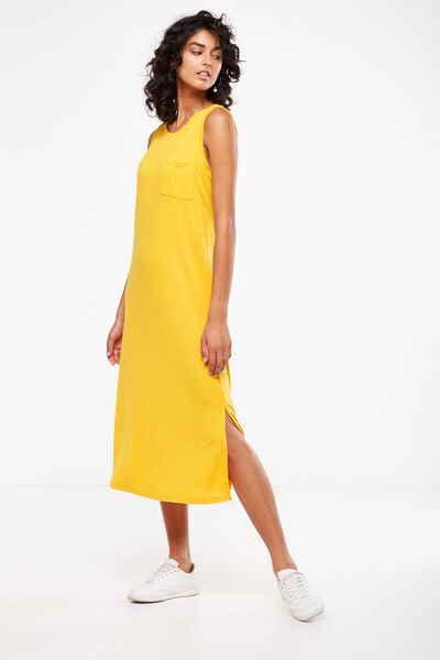 Issac Tank Maxi Dress, SUNFLOWER