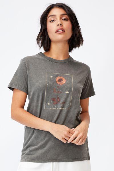Classic Arts T Shirt, NATURE IS MAGIC/SLATE GREY