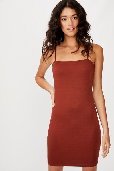 Phoebe Mini Dress, MAHOGANY