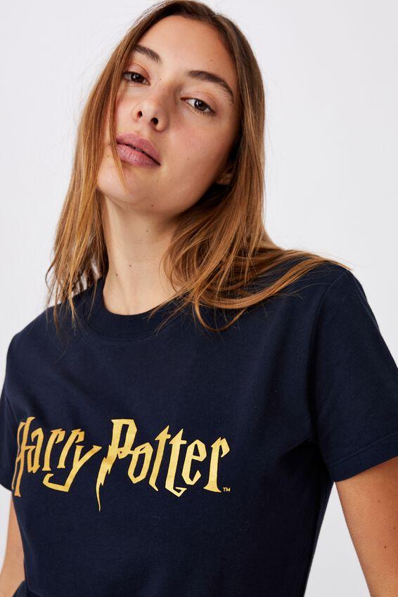 Classic Harry Potter Logo T Shirt, LCN WB HARRY POTTER LOGO/MOONLIGHT